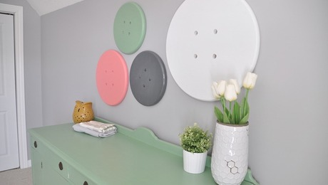 Whimsical Button Wall Art
