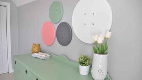 Whimsical Button Wall Art