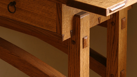 You'll learn to cut beautiful exposed joints like these, useful on all types of furniture.