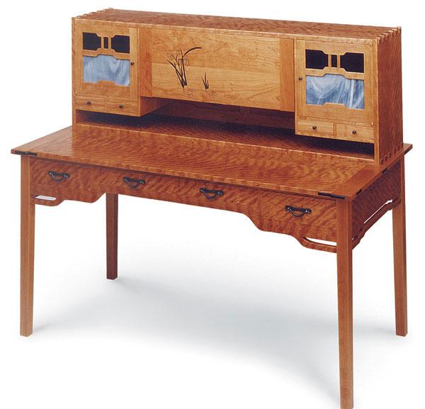 Greene and greene style writing desk finewoodworking for Greene and greene inspired furniture