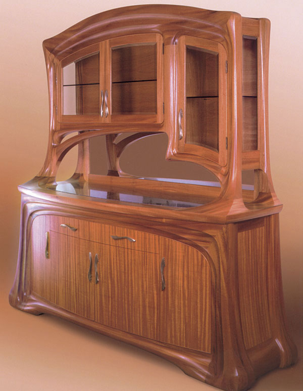 art nouveau style buffet finewoodworking. Black Bedroom Furniture Sets. Home Design Ideas