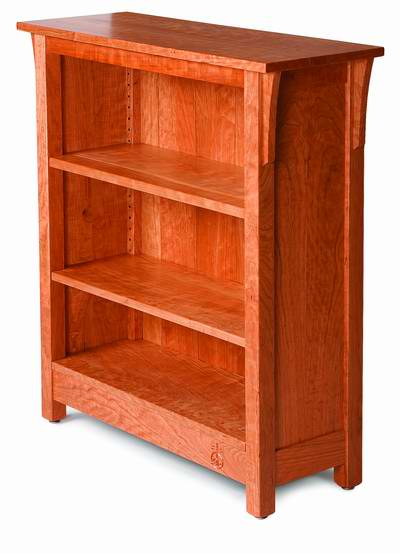Wood Bookshelf Plans ~ Free plan arts and crafts bookcase finewoodworking