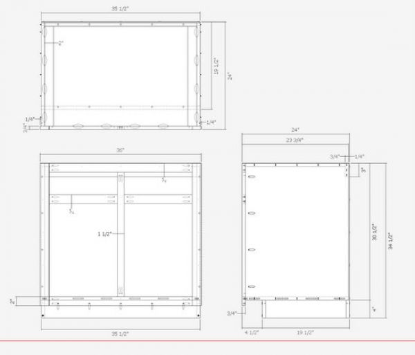 Kitchen cabinets the engineer 39 s way finewoodworking for Kitchen cabinet section