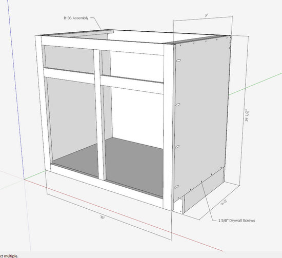 Kitchen cabinets the engineer 39 s way finewoodworking for Best way to build kitchen cabinets