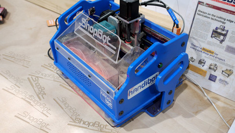 The Handibot flips traditional CNC technology on its head--allowing the woodworker to take the tool to the workpiece.
