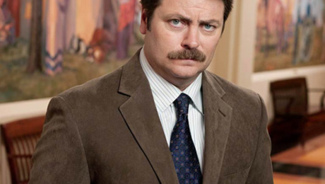 Offerman's NBC alter ego: Parks & Recreation character Ron Swanson.