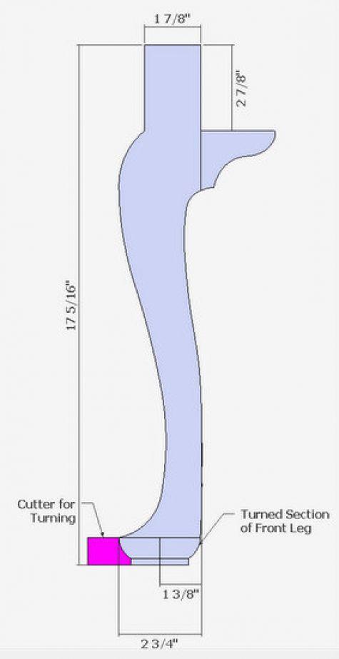 queen anne leg template - williamsburg 39 s queen anne leg finewoodworking