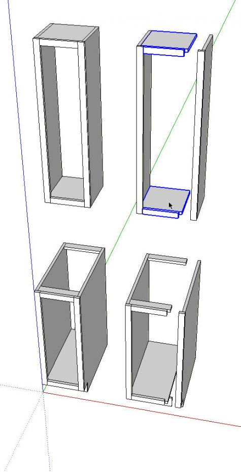 kitchens in sketchup finewoodworking need help with kitchen cabinet layout