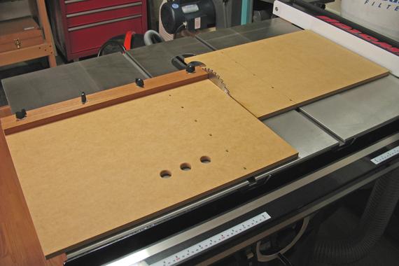 Log Splitter Side Table