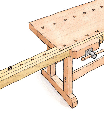 Download the FREE PLAN for this handy workbench extension Free Plan  Workbench Extension For Extra Clamping   FineWoodworking. Free Plans Building Wood Workbench. Home Design Ideas