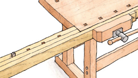 Download the FREE PLAN for this handy workbench extension. Drawings by Jim Richey