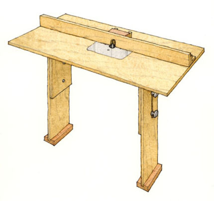 Stow-and-go router table