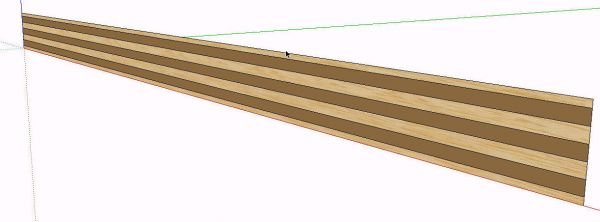 plywood edge creating a new material in sketchup