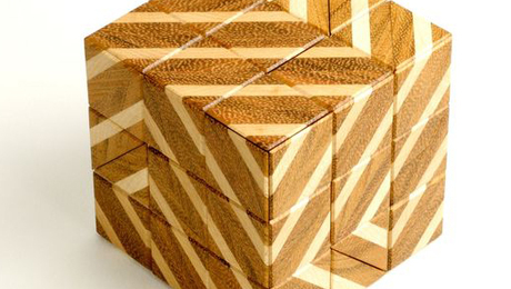Barcode Burr Puzzle by Lee Krasnow.