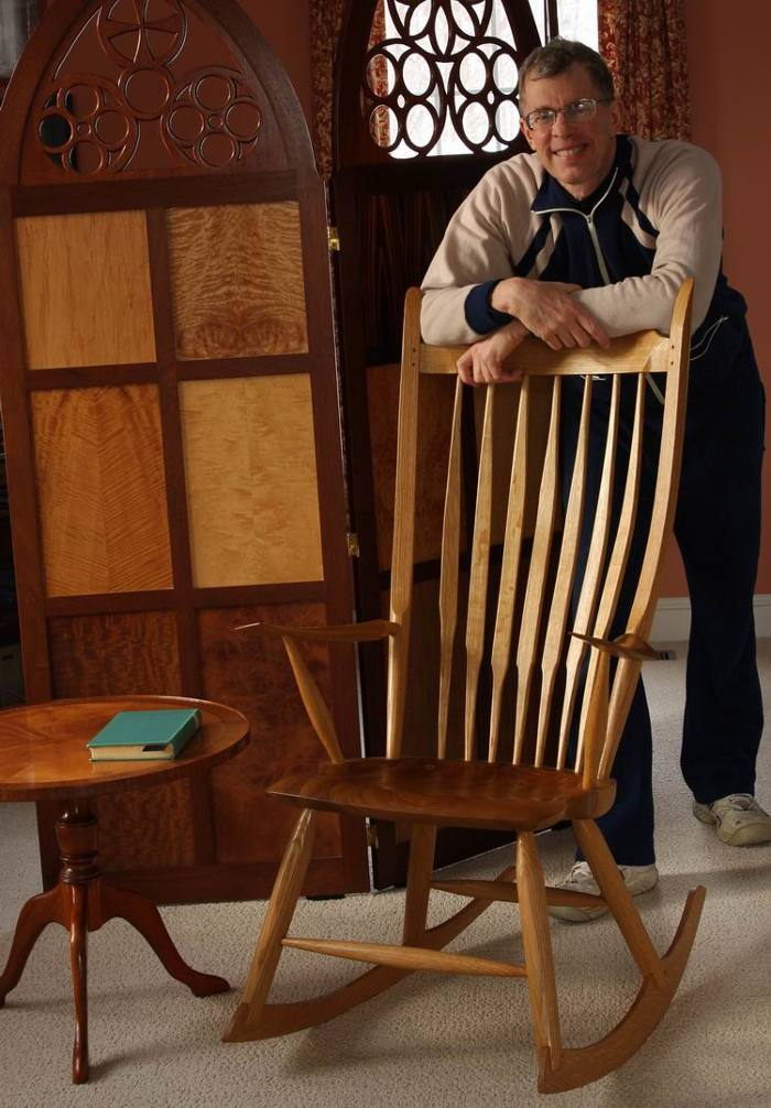 Windsor Style Rocking Chair Built By Mark Schofield To Plans Made Peter Galbert