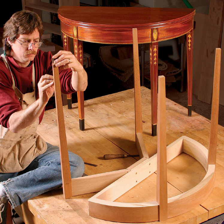 how to make tapered table legs