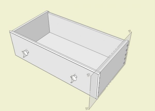 Since The Cross Section Is Now Within The Component Definition Of The Drawer Assembly Every Copy Of The Drawer Assembly Will Show This Cutting Plane