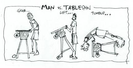 Man vs. Tablesaw