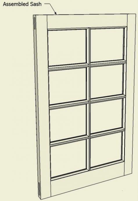 Sash Window Or Door : Making a window sash or breakfront cabinet door