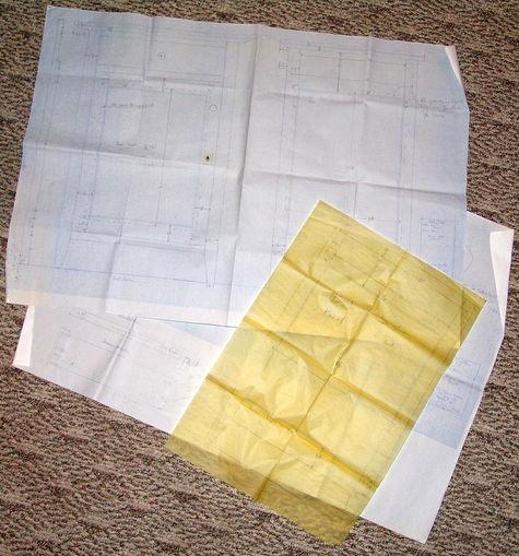 Picture of original plans