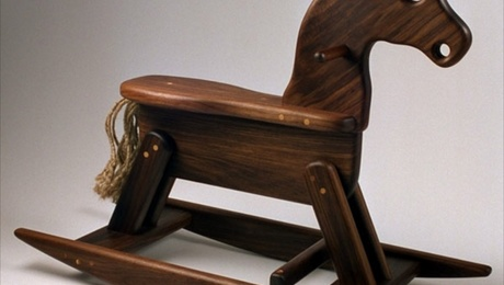 Rocking Horse from FW's original biennial design book first made in 1976.
