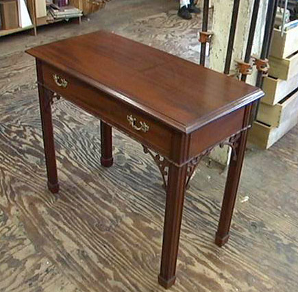 Lovely Woodworker: Freddy Roman Roman Built This Side Table Based On A Chippendale  Design. It Features A Number Of Hand Carved Elements, Including A Taurus  Molding ...