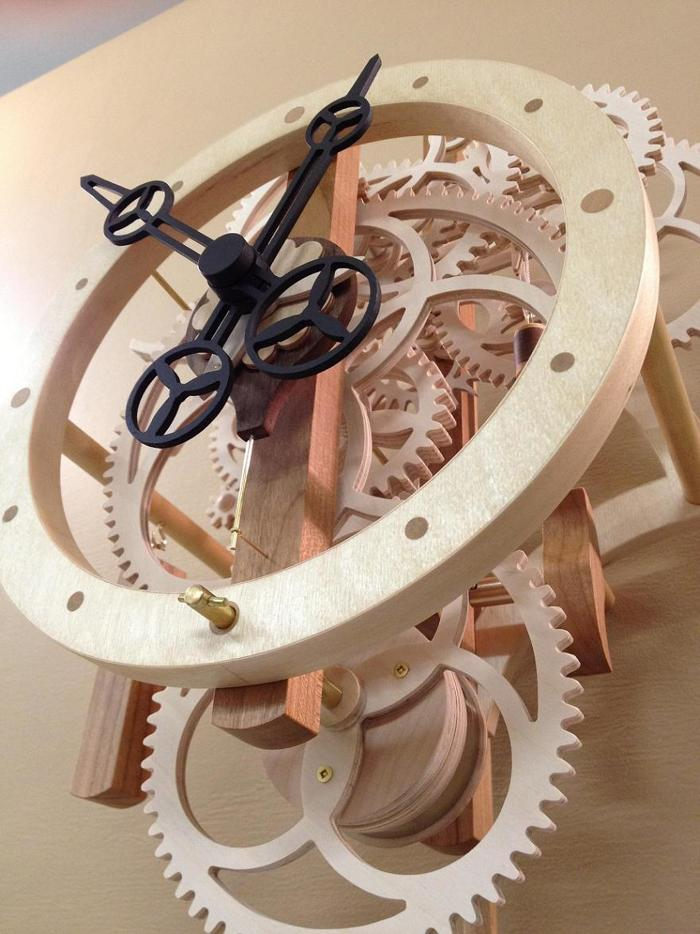 """Remonter"": A wooden gear clock with remontoire ..."