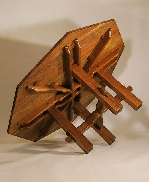 black walnut octagonal dining table finewoodworking