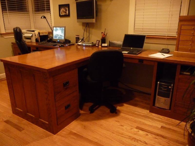 mission oak office desk center from leftovers big office desks