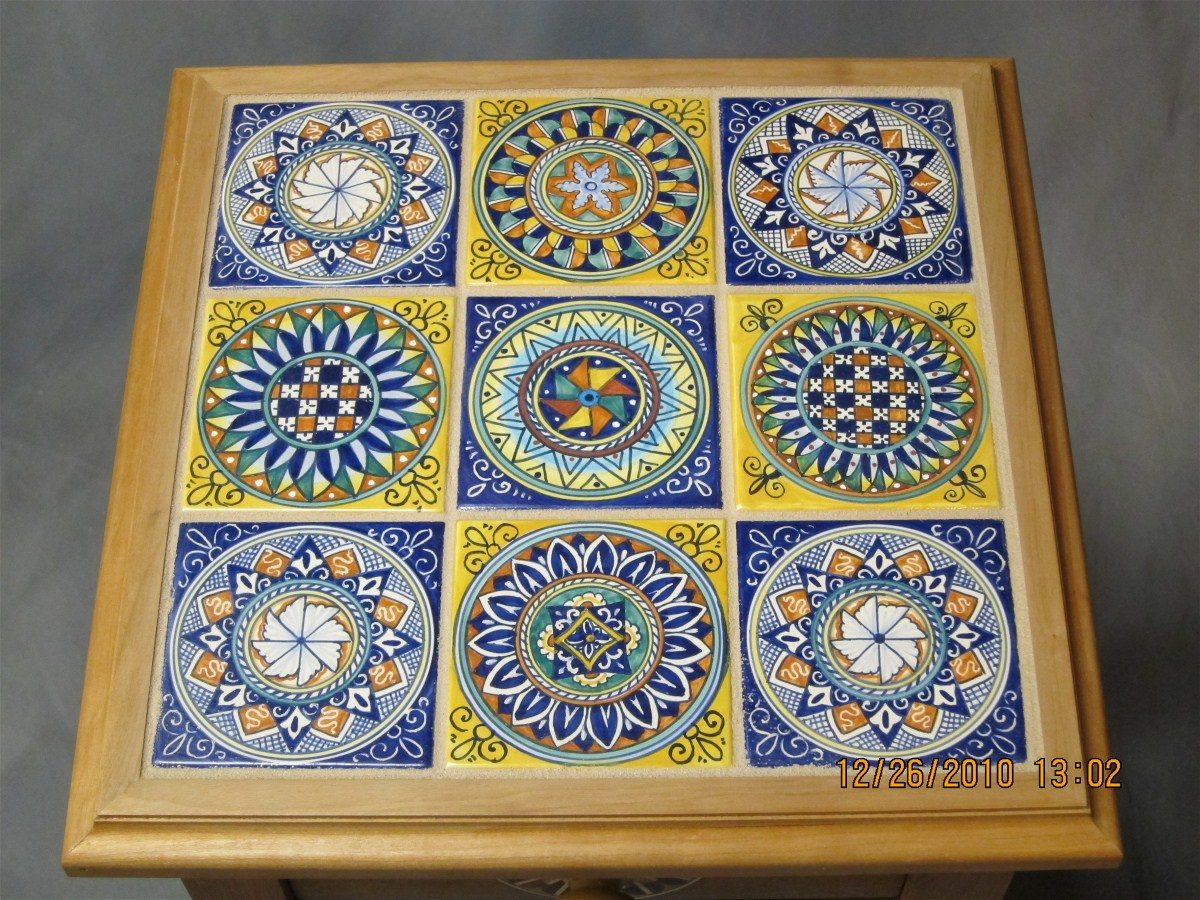 Ceramic tile inlay table finewoodworking x dailygadgetfo Images