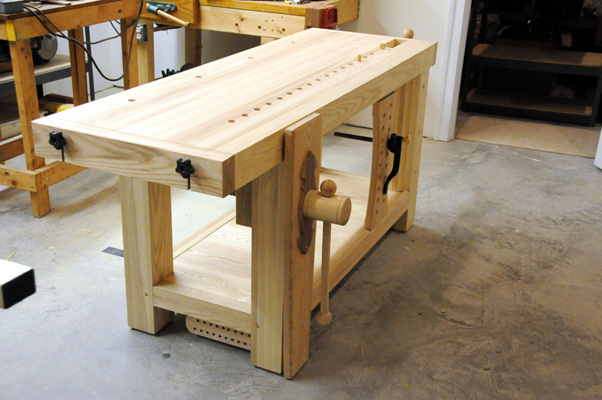 Roubo Bench With Hand Made Wooden Wagon Vise