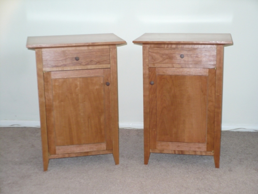 Matching Cherry Bedside Cabinets based on T. Rousseau's Plans - Nightstand - FineWoodworking