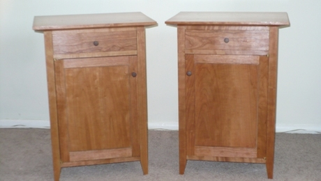 Matching bedside tables based on Timothy Rousseau's plans. (Sorry for the poor quality photos.  I'm a better woodworker than I am a photographer.)