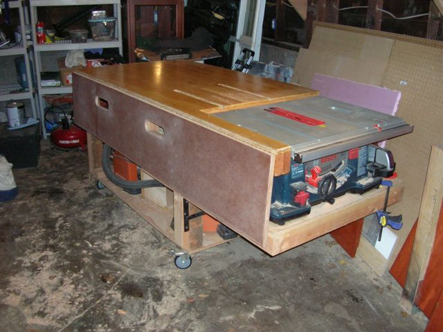 Bosch Table Saw Stand Out Feed Table Finewoodworking