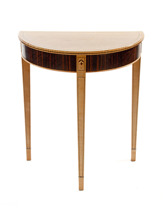 Demi Lune Table Finewoodworking