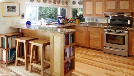 Cherry and Birdseye Maple Kitchen