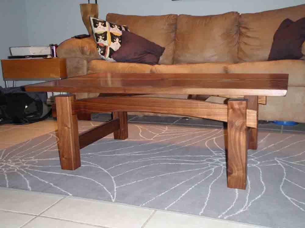 black walnut coffee table - finewoodworking