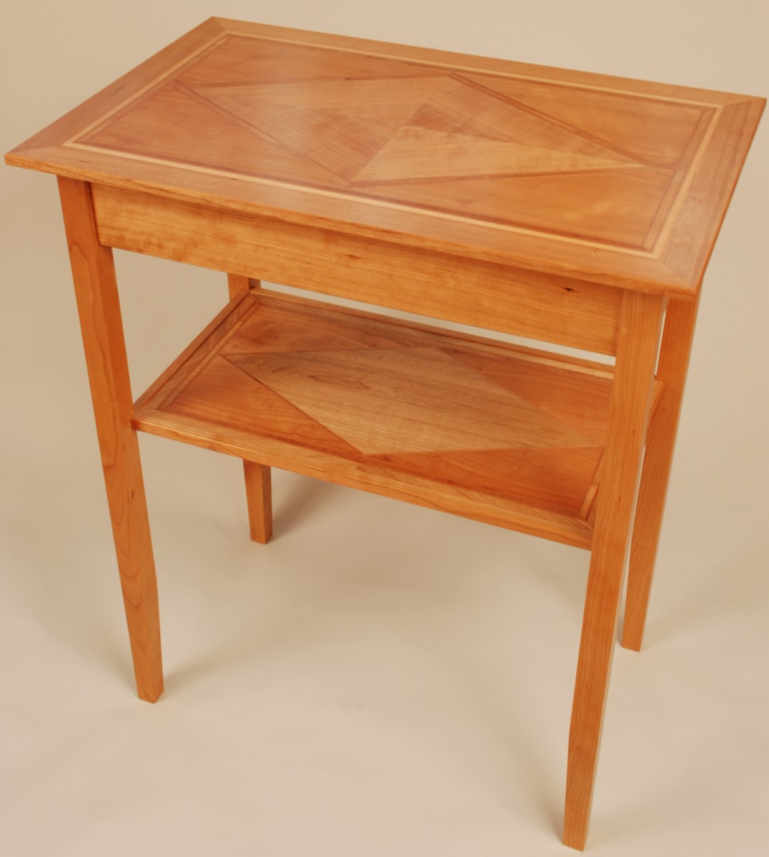 Cherry end table finewoodworking for Email table design