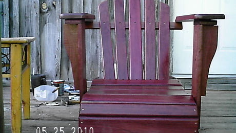 Purple Heart Rocker. Rockers are 8/4.