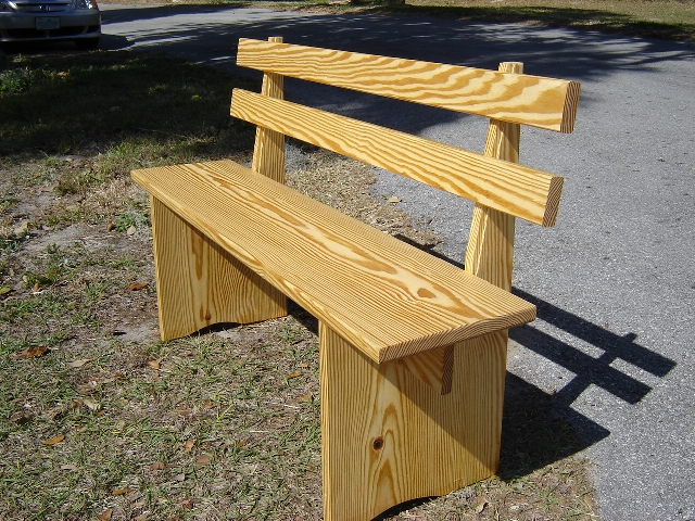 Southern yellow pine outdoor furniture finewoodworking for Outdoor furniture yellow
