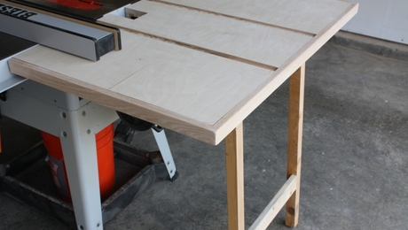 Outfeed Table Built From Scraps But Very Useful In The