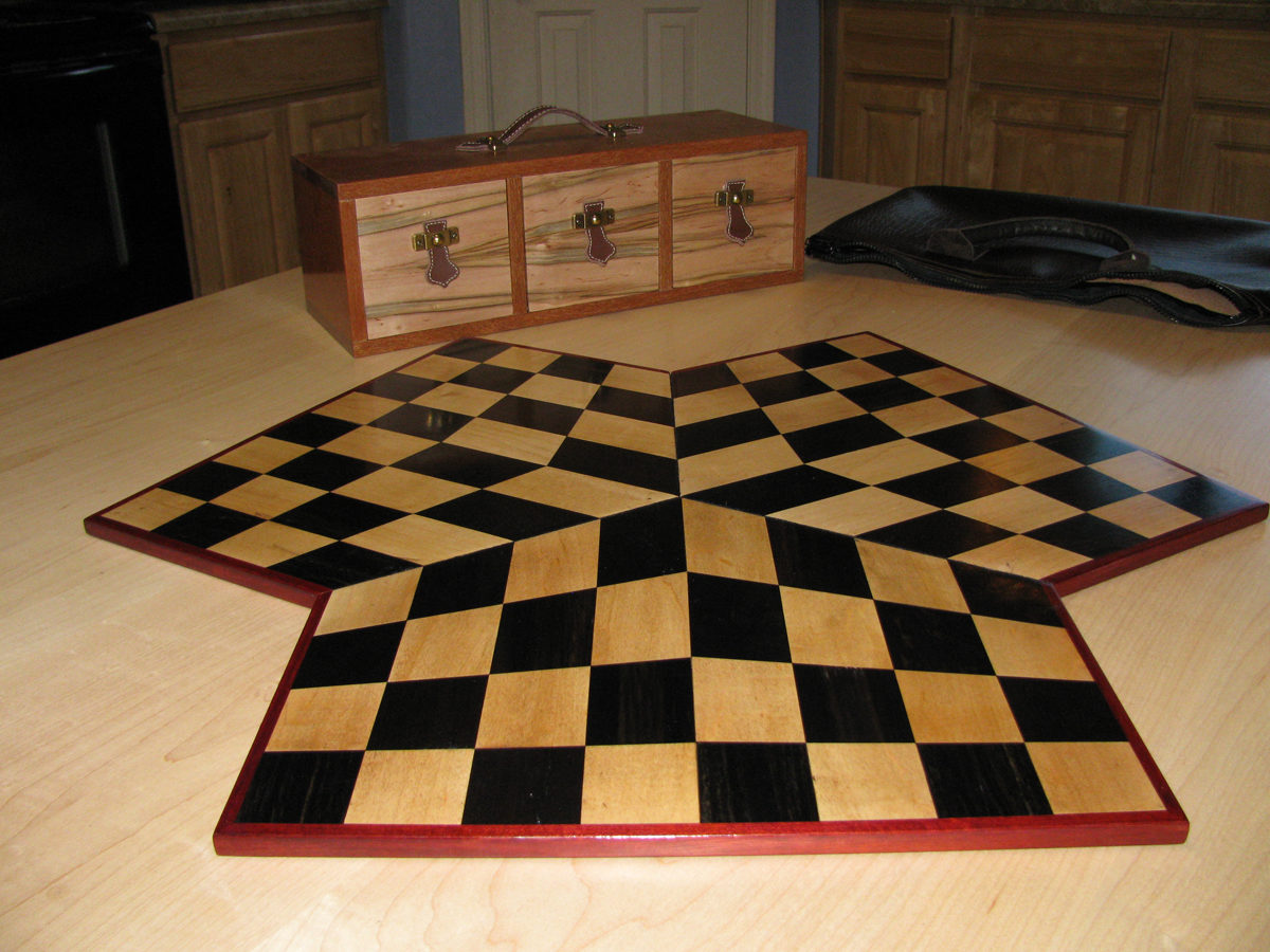 3 Way Chess Board Finewoodworking