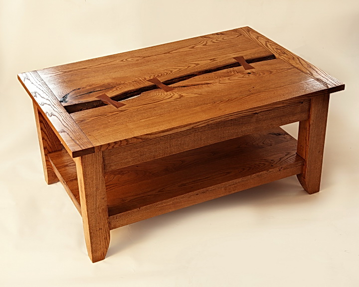 Live edge ash coffee table finewoodworking for Email table design
