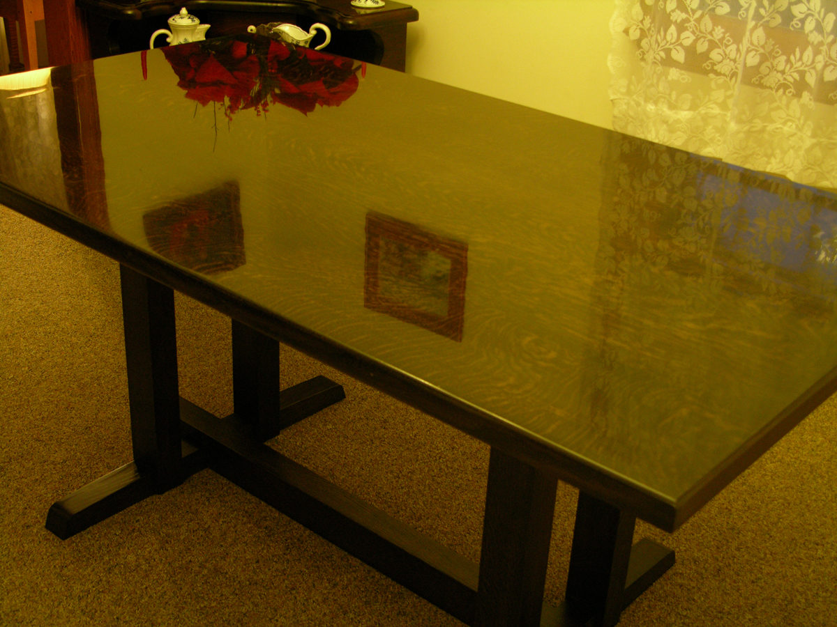 Ebonized White Oak Table - FineWoodworking