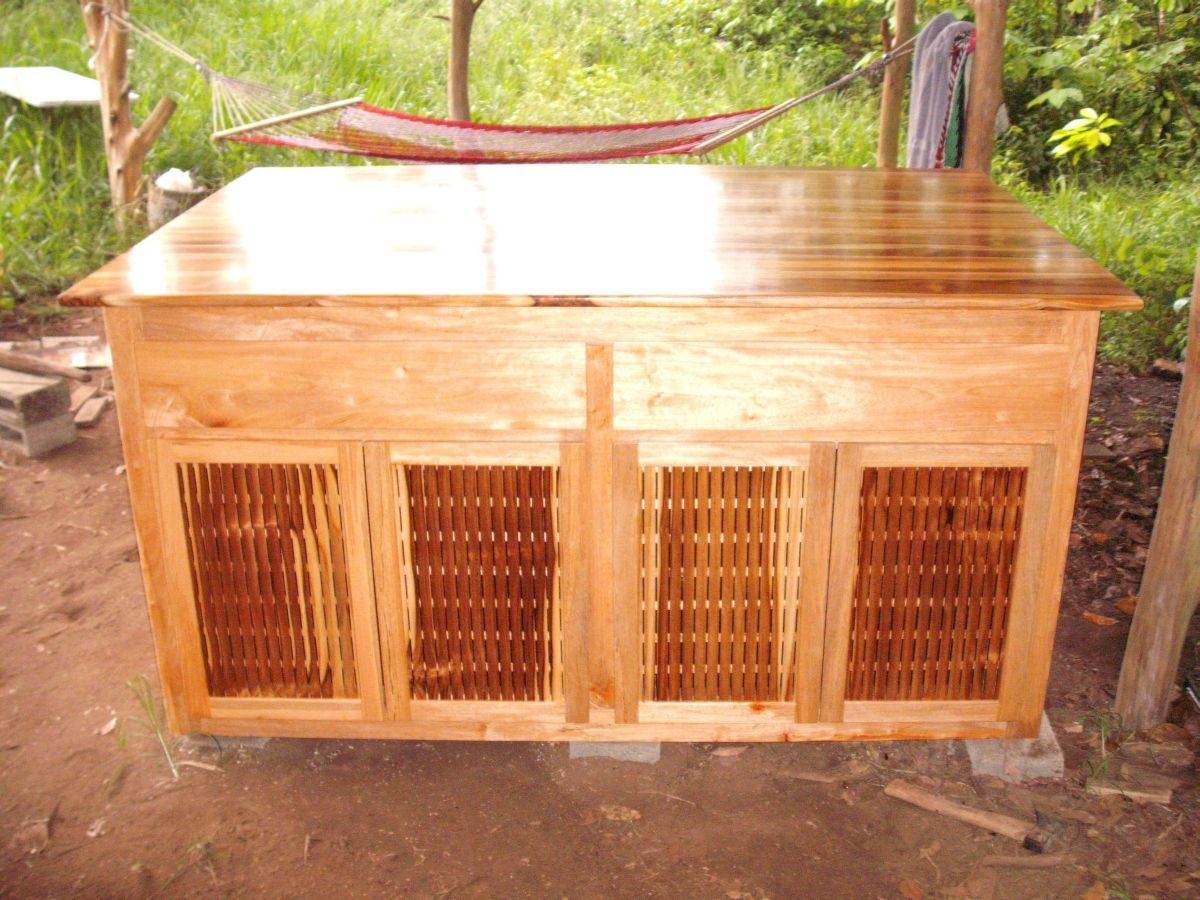 Teak Outdoor Kitchen Cabinet