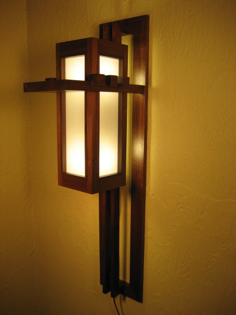Prairie Style Wall Sconce Fllw Finewoodworking