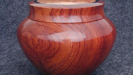 Bubinga Ginger Jar