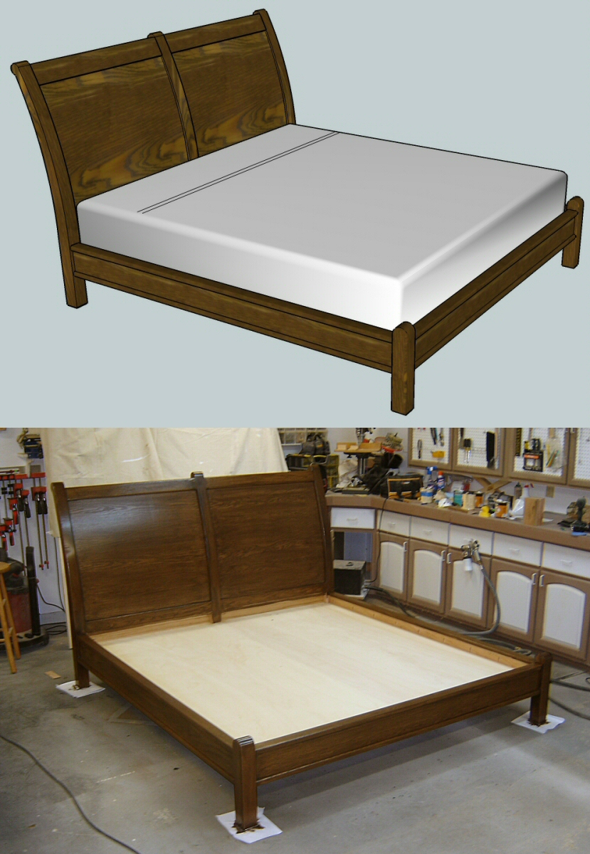 Free project plans in google sketchup finewoodworking - Fine bed plans images ...