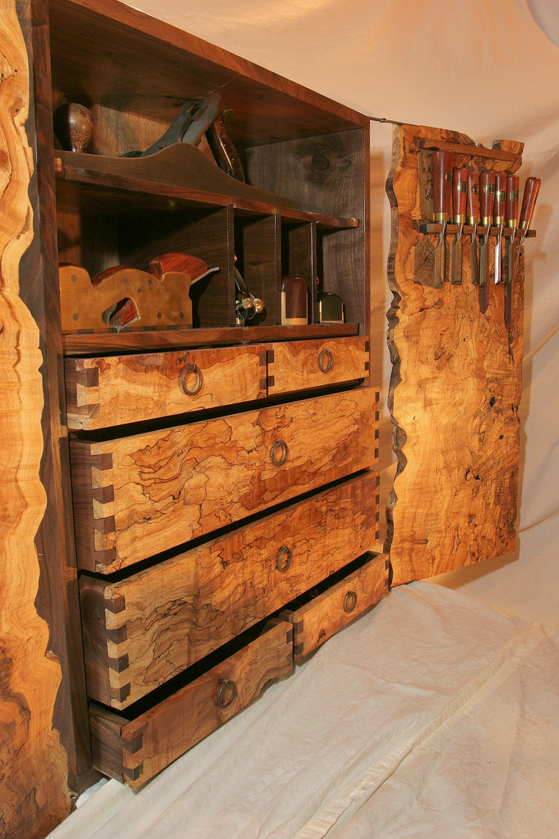 Spalted Maple And Walnut Tool Cabinet Finewoodworking