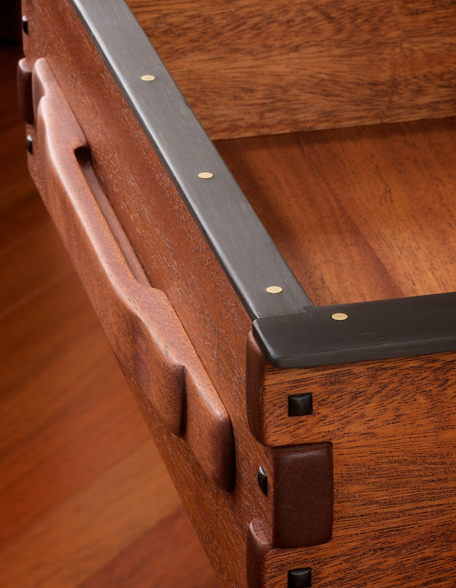 Gamble house entry table finewoodworking for Greene and greene inspired furniture